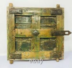 1700's Ancient Wooden Hand Carved Iron Work Small Rare Beautiful Door Panel