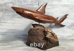(19L) Ironwood Shark Sculpture Hand-Carved by Sonoran Artisan (New Carving)