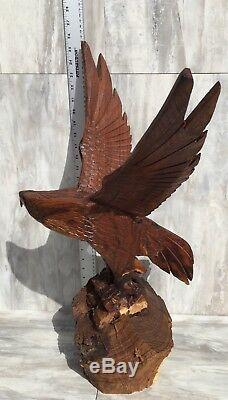 (25.5H) Ironwood Eagle Sculpture Hand-Carved by Sonoran Artisan (New Carving)