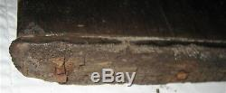 Antique Primitive USA Country Wood Plank Board Bread Dough Hand Forge Iron Nails