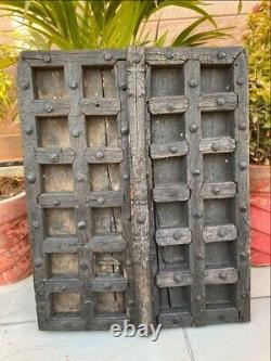 Antique Wood Hand Crafted Iron Work Old House Castle 23 X 18'' Window Door