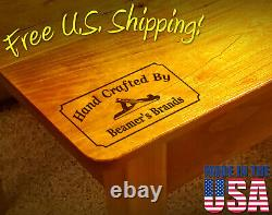 Branding Iron 3 x 1.5 Custom Text Hand Crafted By withHand Plane for Wood