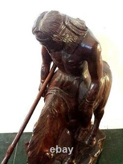 End of Trail one of a kind HAND CARVED IRONWOOD PRICE REDUCED