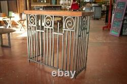 Hand Crafted Brazilian Cherry and Old World Iron Console Table, 42 x 36H