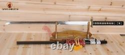 Hand Forged Full Tang Japanese Ninja Sword T10 Steel Clay Tempered Battle Ready