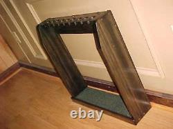 Hand Made in USA Solid Wood Display Rack Case for 9 Golf Clubs Irons Putters