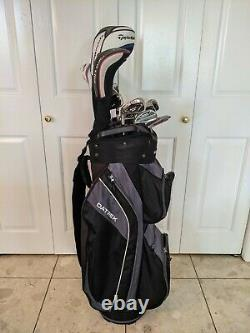High End Mens Left Handed Golf Set Taylormade M4 Irons + Woods And Bag Nice