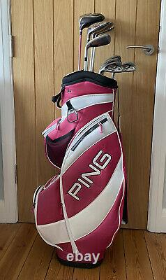 LEFT HANDED PING Ladies FAITH GOLF CLUBS Irons, Driver, woods, Hybrid & Putter SET