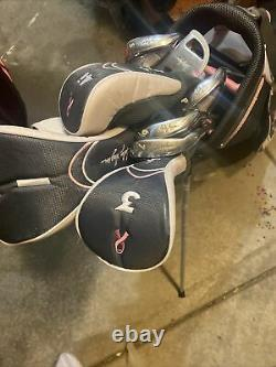 Lady Hagen Inspire Full Set Woods Hybrids Irons Putter Stand Bag Right Handed