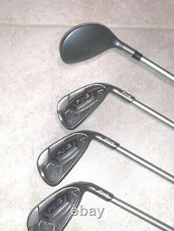 Lady Ping Serene 4 Wood 6 Irons RED Dot 6 7 8 9 S W, Right Handed RH EXC COND