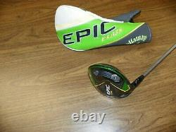 Left handed Callaway Epic Flash driver. Graphite project X 5.5R 55 g shaft
