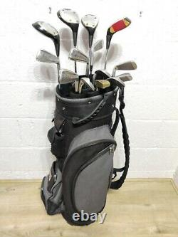 Mens Full Set Of Right Hand Golf Clubs Ping Woods Seve Irons Wilson Bag +Xtras