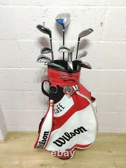 Mens Full Set Of Right Hand RH Golf Clubs Donnay Woods Wilson Irons & Bag +Xtras