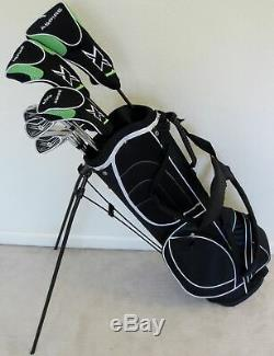 Mens Golf Complete Set Driver Wood Hybrid Irons Putter & Stand Bag Right Handed