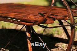 Sleigh Coffee Table Solid steam-bent wood & hand forged iron