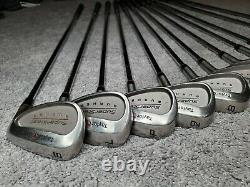 TaylorMade Burner SuperSteel Iron Set Right Handed P L S 3 4 5 6 7 8 9 18 15 Lot
