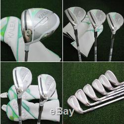 TaylorMade Kalea LEFT HAND Driver, Fairways, Rescues, Irons 12pc SET Ladies NEW