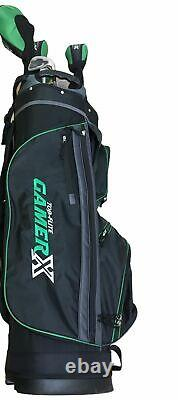 Top Flite 19 GamerX Right Hand Golf Cart Bag with Clubs Pre-Owned