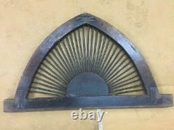 VINTAGE OLD WOODEN RUSTIC IRON jALI HAND MADE UNIQUE FRAME ANTIQUE AIR WINDOW