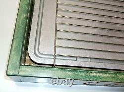 Vintage COLEMAN GRIDDLE in Custom Hand Crafted Wood Case FREE SHIPPING