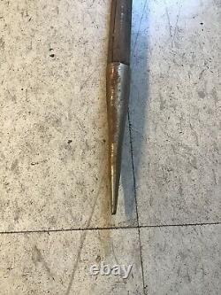 Vintage IFUGAO Iron Wood Tribal Spear Philippines Hand Forged 60 Inches B