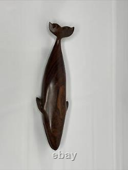 Vintage Ironwood Whale Sculpture Hand Carved