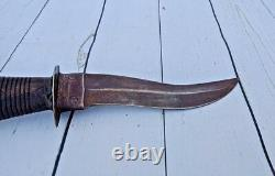Vintage Old Hand Crafted Iron Blade Wooden Hilt Safety Knife Dagger India