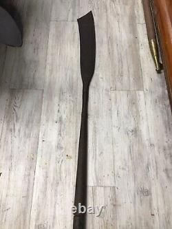 Whalemans Flensing Knife On Pole 40 Iron Blade 62 Hand Hewn Wooden Pole