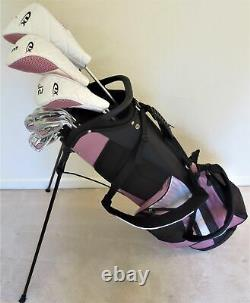 Womens Right Handed Golf Set Driver Wood Hybrid Irons Putter Deluxe Bag Graphite